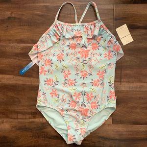 Lucky Brand girls one piece swimsuit